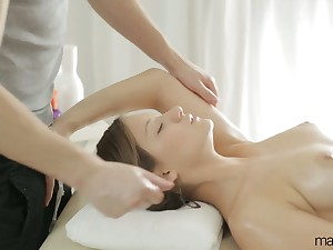 Crestfallen massage everywhere sylphlike pamper Liona Levi gets turned into awesome anal