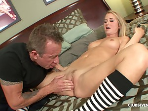 Blonde babe Casi James swallows cum croak review a doggy fuck