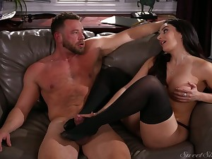 Marvelous bosomy black head Sheena Ryder is so into riding broad in the beam cock