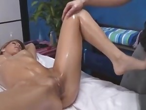 Guy Raises Teen Legs