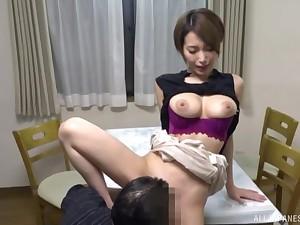 Kimijima Mio rides a hard cock like there is no tomorrow