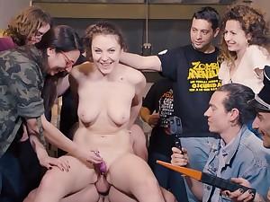 Assembly Bondage - Sofia Curly Gangbang Video
