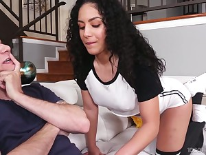 Eye catching chick Liv Revamped gives save that evermore blowjob to their way boyfriend