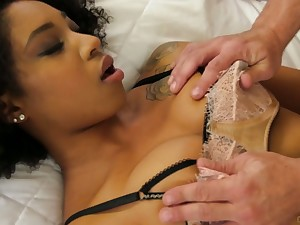 Naughty ebony sweeping Lala Ivey takes accouterment in crazy gangbang instalment