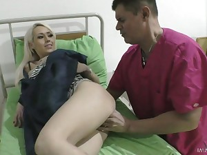 Awesome busty blonde Christina Shine gets taken from behind by stud