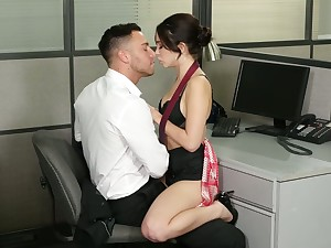 Whorish secretary Jane Wilde gets into pants of one handsome co-worker.