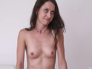 Teenage babes posing nude at the casting