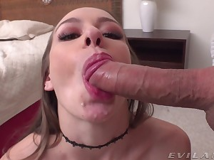 Woman gets gagged and roughly fucked in a genuine POV
