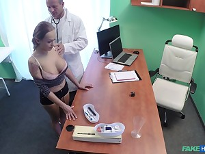 Crazy fucking on the hospital bed with amateur Katerina Muti